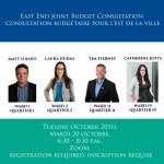 East End Budget 2021 Consultation | Consultation pour le budget 2021 pour les quartiers de l'est